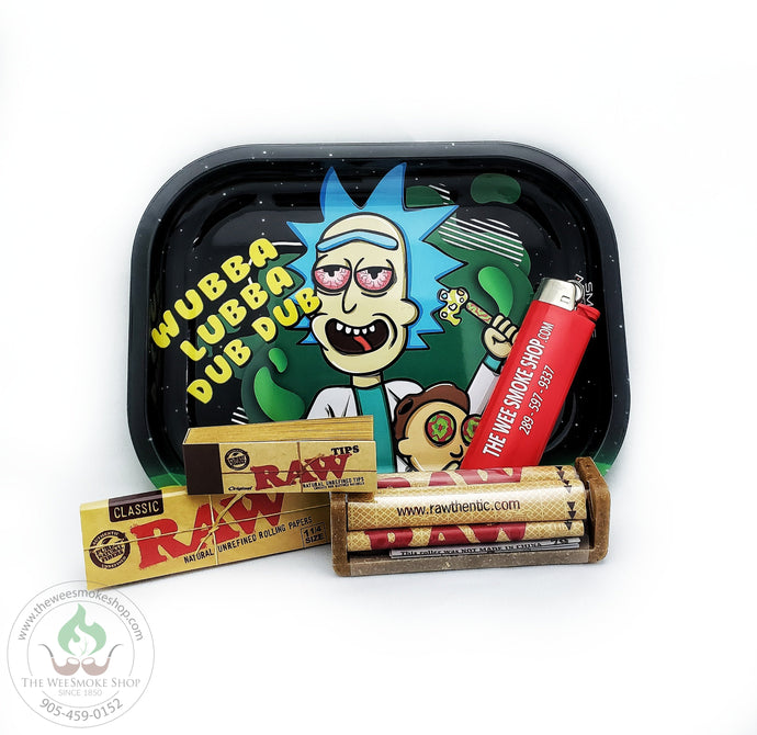 1 1/4 RAW Rolling Bundle with Tray-Exclusive Bundle-The Wee Smoke Shop