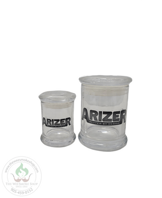 Arizer Pop Top Glass Jar-storage-The Wee Smoke Shop