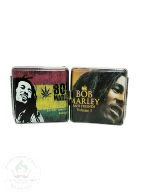 Bob Marley Metal Cigarette Case-storage-The Wee Smoke Shop
