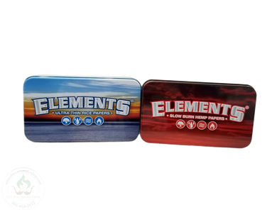 Elements Metal Tin Box-storage-The Wee Smoke Shop