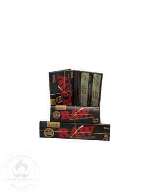 RAW Black Rolling Papers-rolling papers-The Wee Smoke Shop