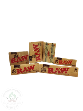 RAW Classic Rolling Papers-rolling papers-The Wee Smoke Shop