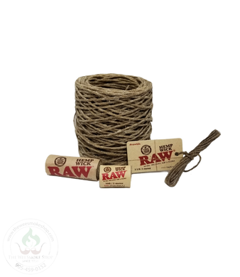 RAW Hemp Wick (Various Sizes)-hempwick-The Wee Smoke Shop