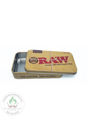 RAW Metal Tin Box-storage-The Wee Smoke Shop