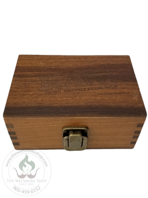 RAW Wooden Stash Box with Clasp-storage-The Wee Smoke Shop