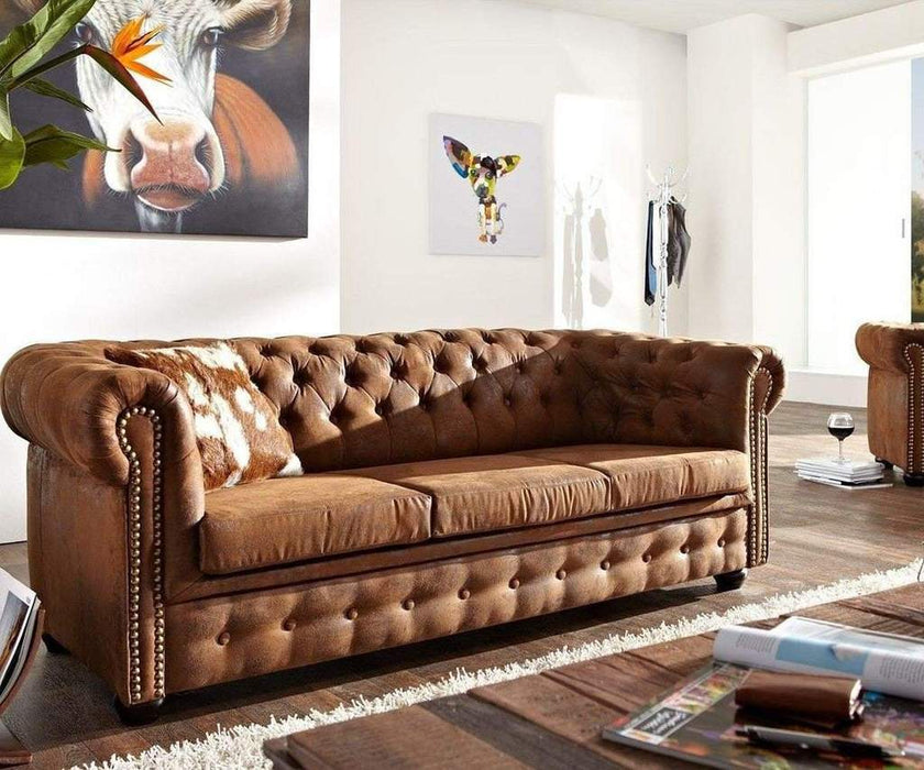 Canapea Chesterfield Antik Brown 4