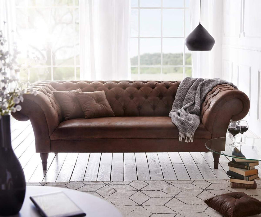 Canapea Chesterfield New Antik Brown