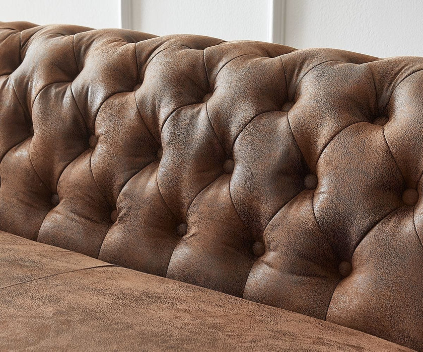 Coltar Chesterfield Brown L 210 cm