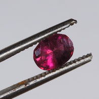 1 cts hot pink tourmaline faceted oval cut afghanistan
