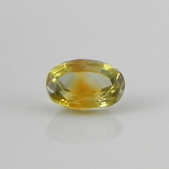 1.15 cts yellow sapphire faceted oval cut rock creek, montana