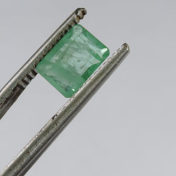 1.2 cts faceted emerald octagon cut Zambia