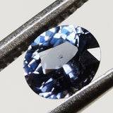 1.05 cts blue purple VVS spinel faceted oval cut sri lanka #09