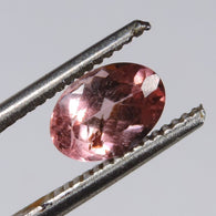 1.6 cts pink tourmaline faceted oval cut brazil