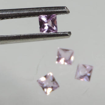 0.65 cts VVS pink Imperial Topaz square princess cut Ouro Preto
