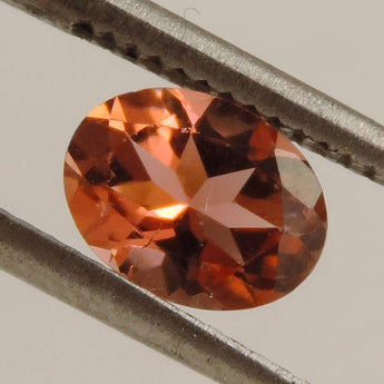 1.2 cts VS peach pink tourmaline faceted oval cut Brazil
