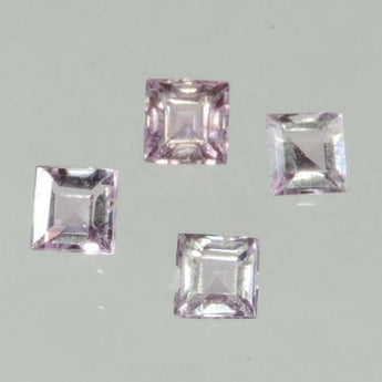 0.9 cts Flawless pink Imperial Topaz faceted square cut Ouro Preto