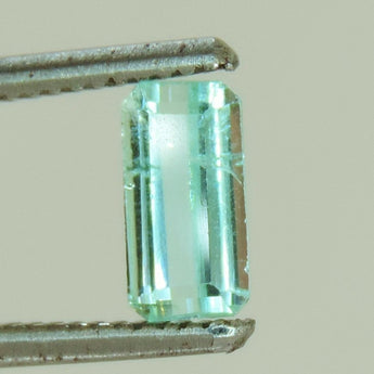 1.2 cts faceted green Tourmaline emerald cut afghanistan