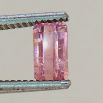 1.4 cts faceted pink Tourmaline emerald cut afghanistan #8