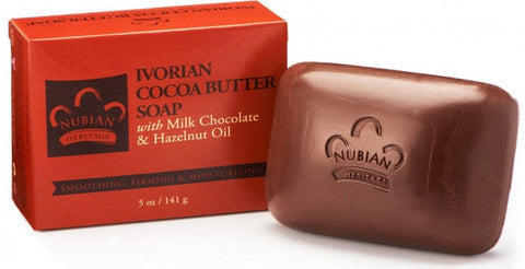 Nubian Heritage Bar Soap Ivorian Cocoa Butter -- 5 oz