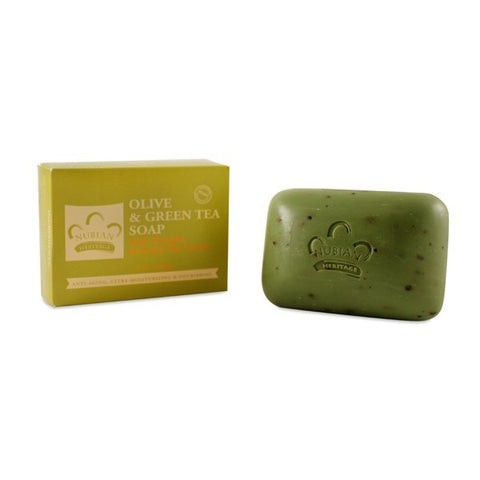 Nubian Heritage Bar Soap Olive & Green Tea with Avocado -- 5 oz