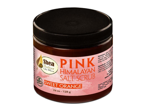 Organic Pink Himalayan Salt Scrub - Sweet Orange