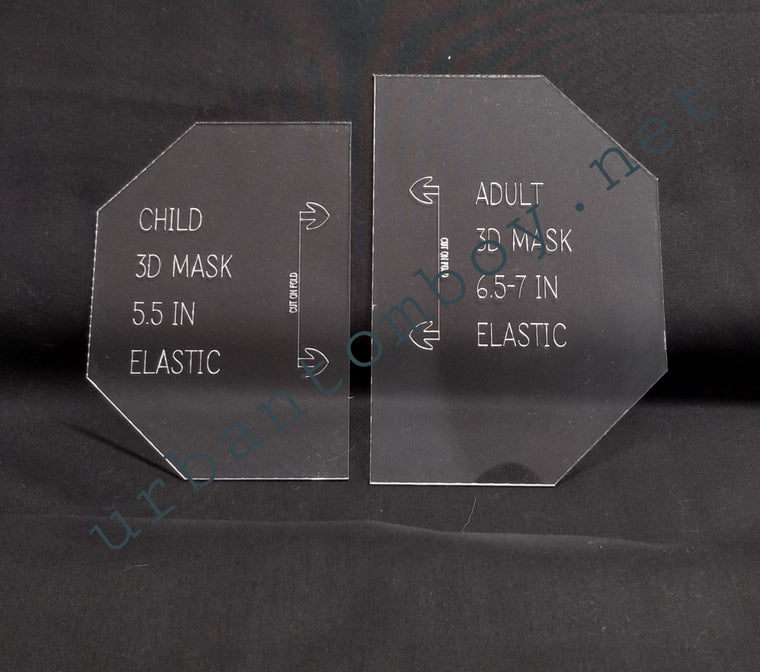 Acrylic template for 3D face masks- Adult and Child size