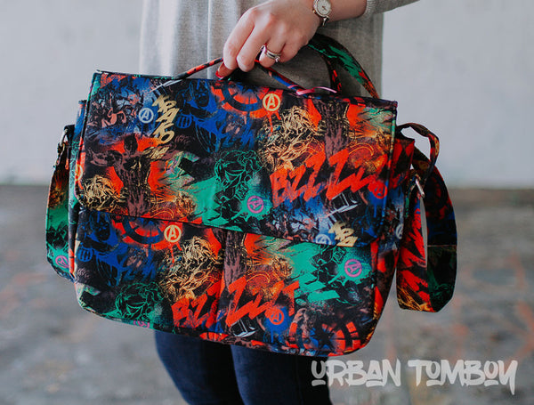 Avengers Grafitti Crossbody Messenger Bag