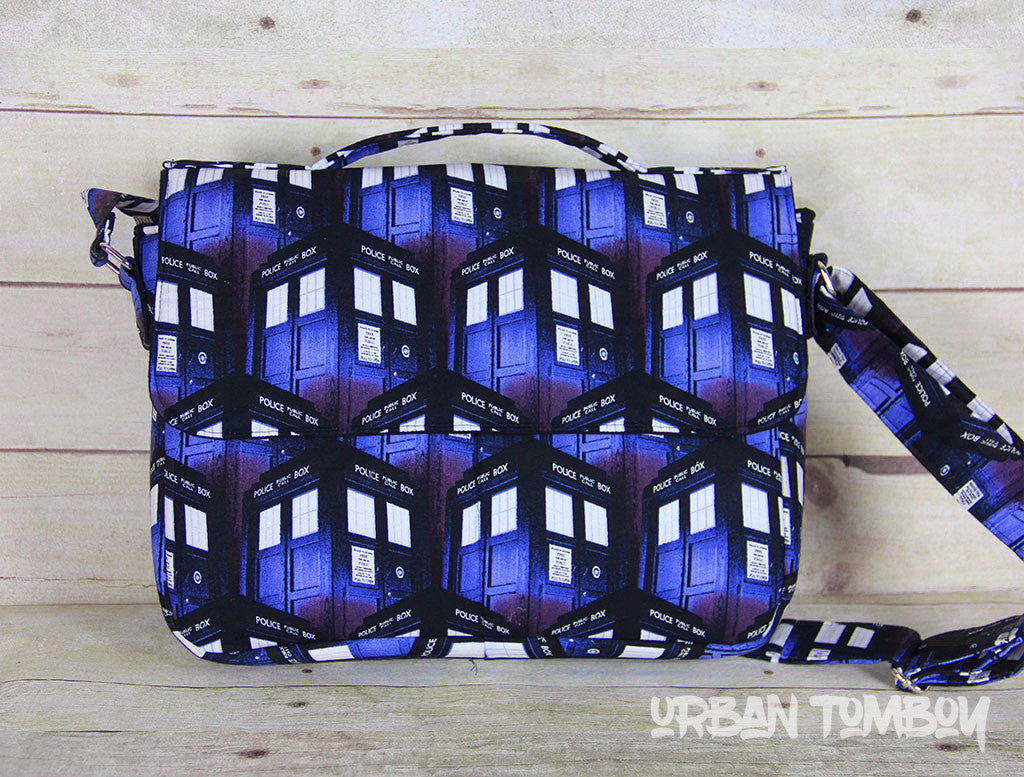 Tardis Crossbody Messenger Bag