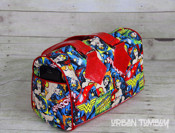 Wonder Woman Kaboom Barrel Bag