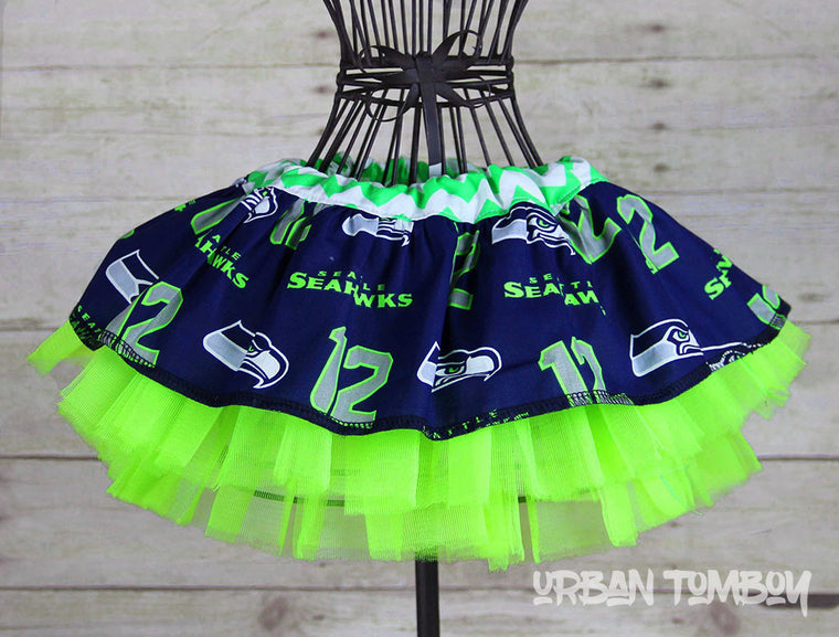 Seahawks 12th Man Baby Skirt & Tutu Set