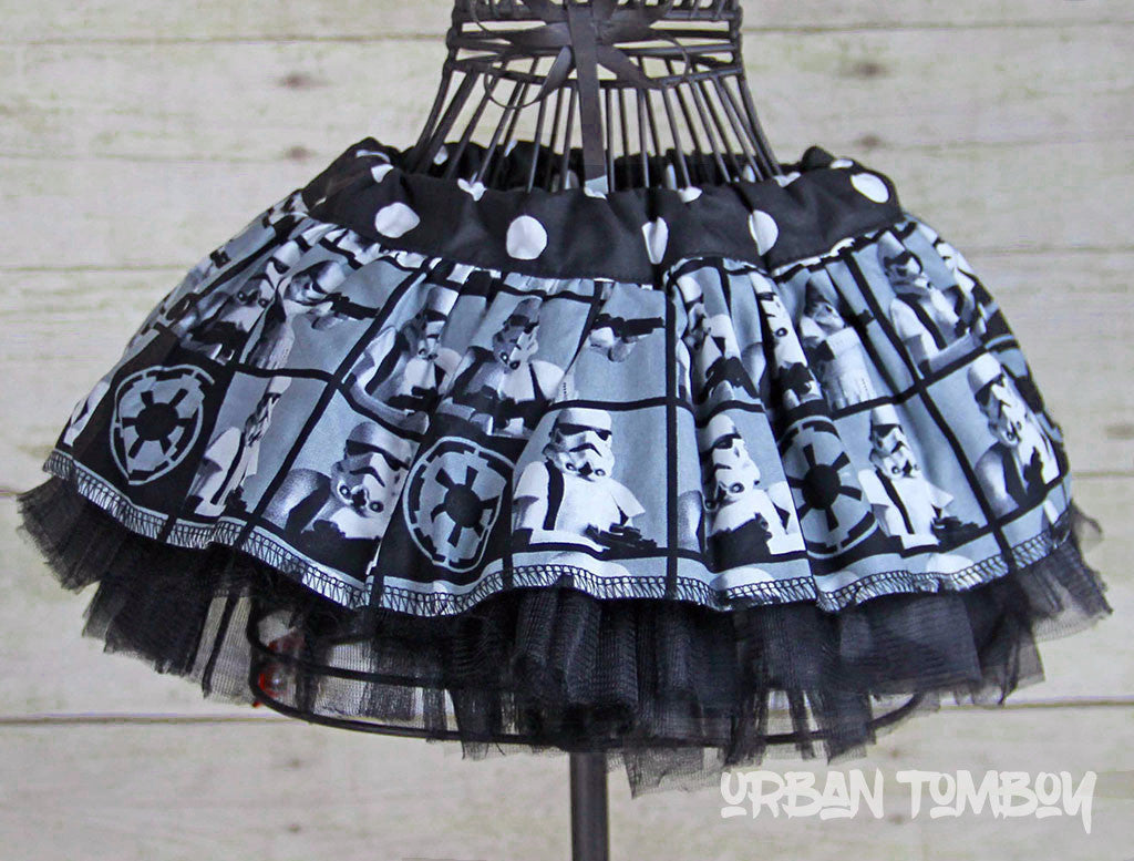 Stormtrooper Block Baby Skirt & Tutu Set