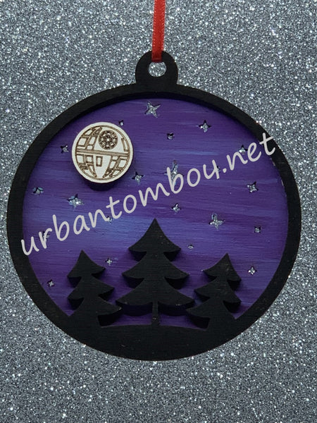 Death Star ornament - Purple