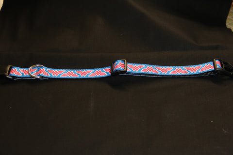 Wonder Woman Logo Dog Collar