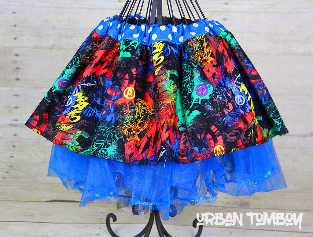 Avengers Grafitti Skirt & Tutu Set