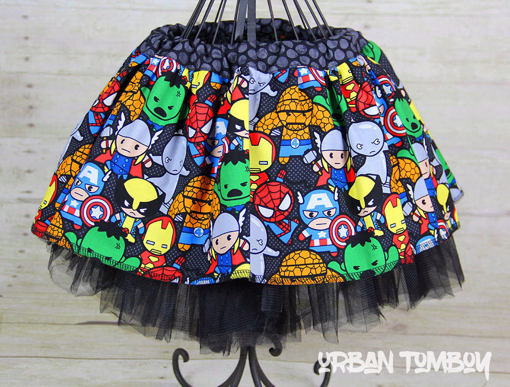 Tiny Avengers Skirt & Tutu Set