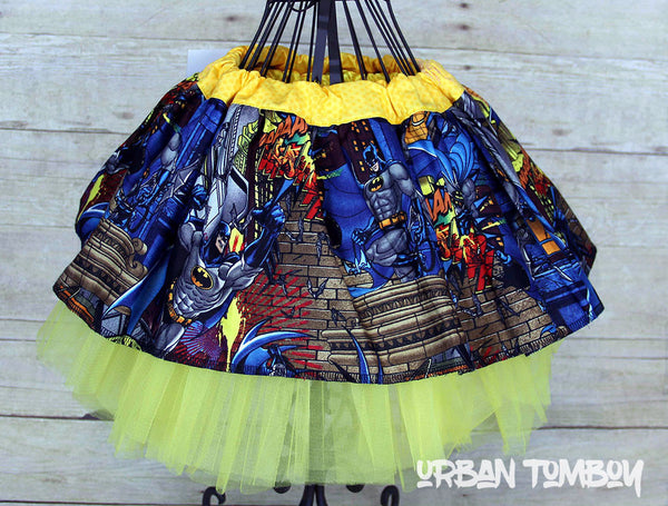 Batman Cityscape Skirt & Tutu Set