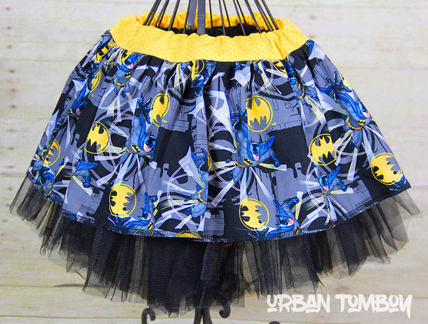 Batman Black Broken Glass Skirt & Tutu Set