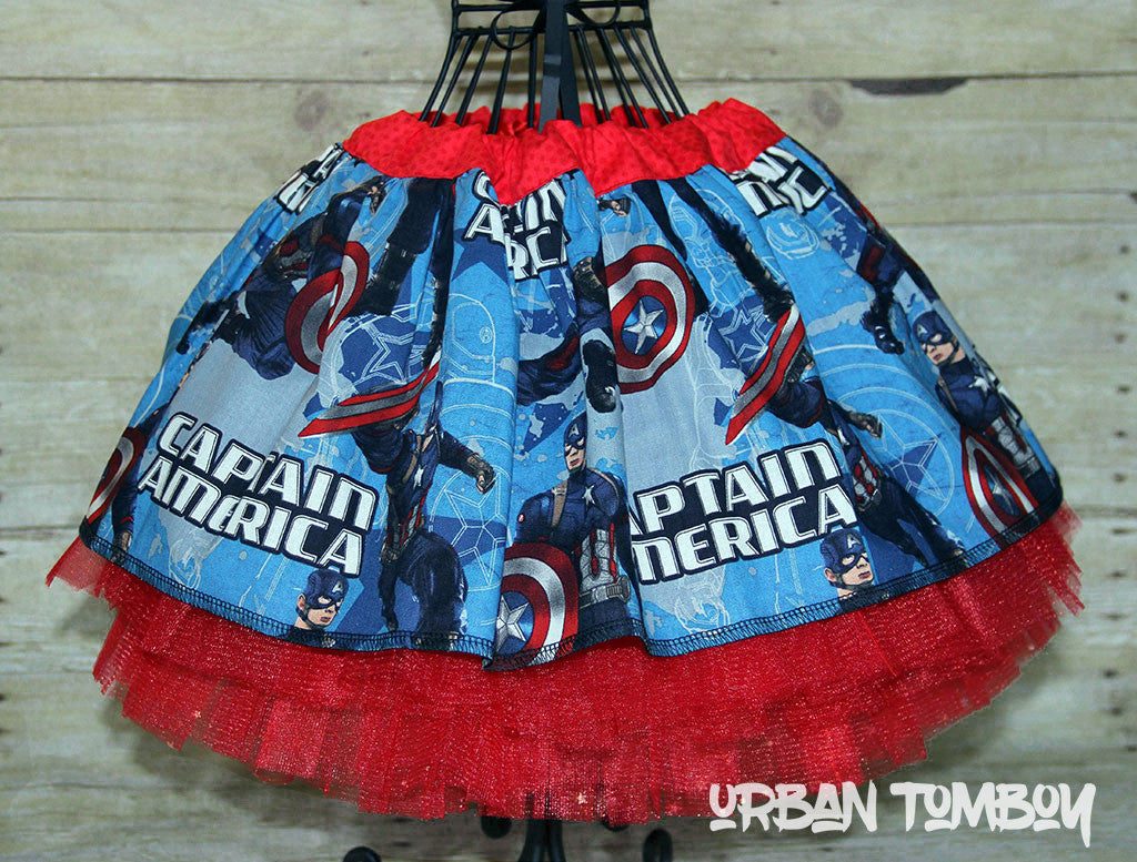 Captain America Skirt & Tutu Set
