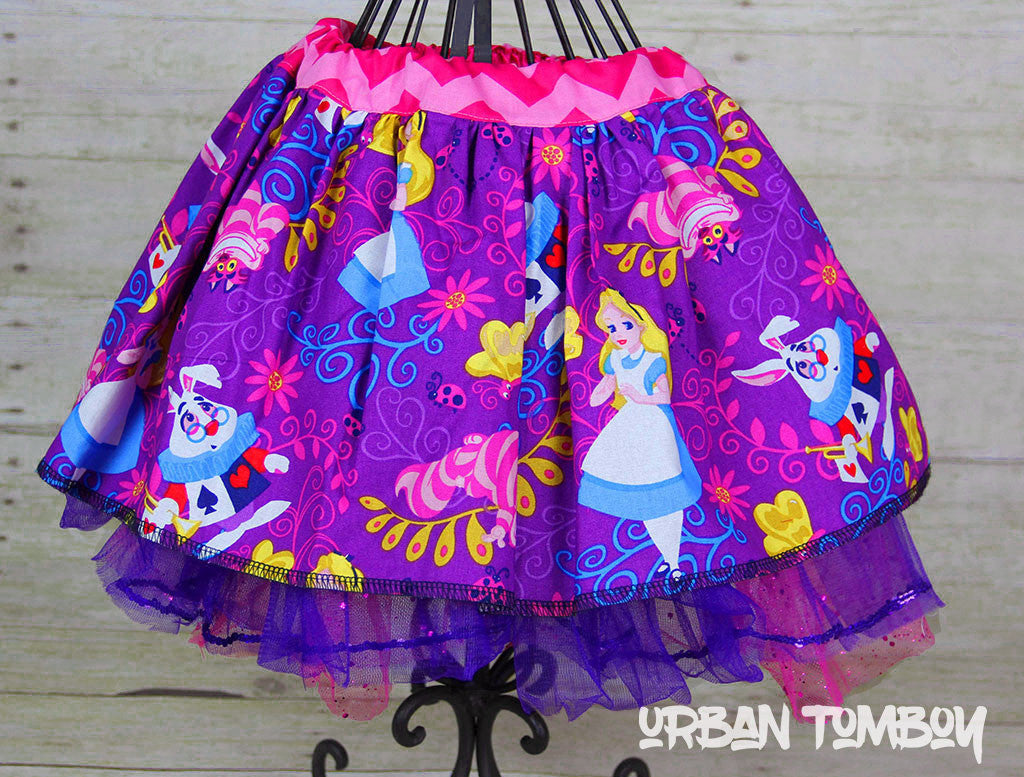 Disney Alice In Wonderland Skirt & Tutu Set