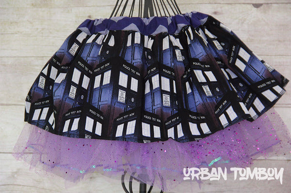 Doctor Who Tardis Skirt & Tutu Set