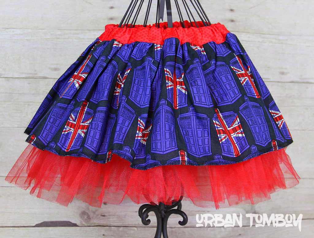 Doctor Who Union Jack Tardis Skirt & Tutu Set