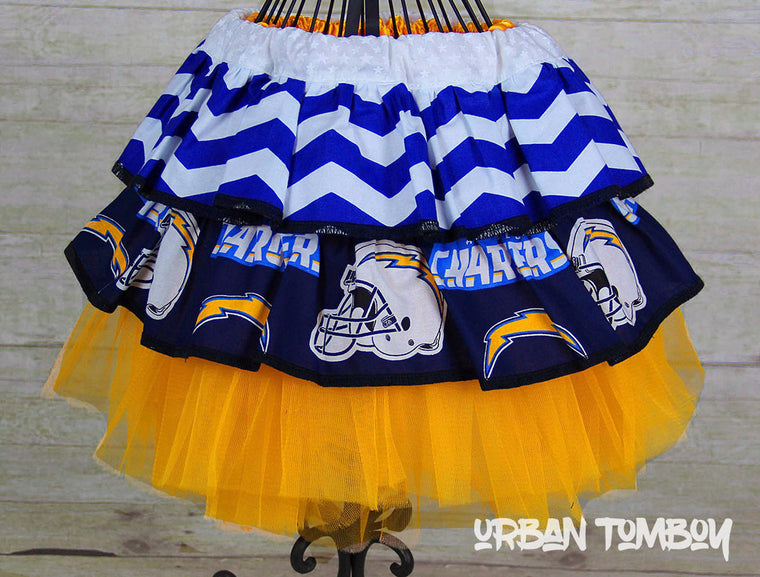 NFL Chargers Skirt & Tutu Set