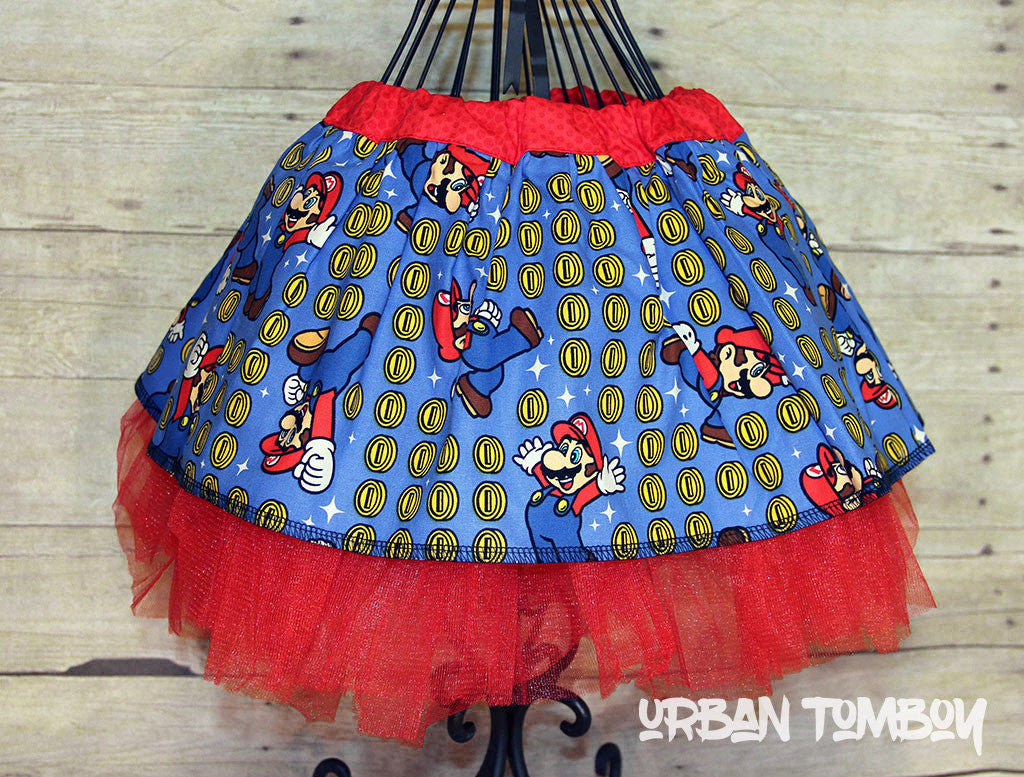 Super Mario Coins Skirt & Tutu Set