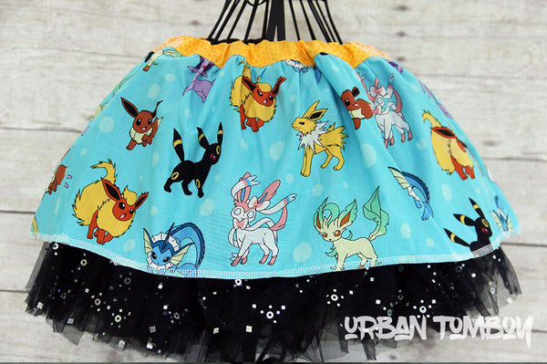 Light Blue Pokemon Skirt & Tutu Set