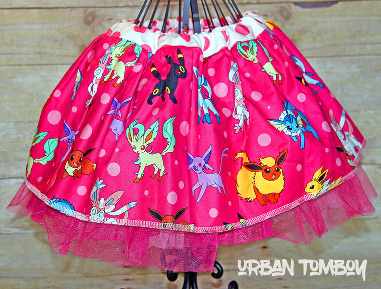 Hot Pink Pokemon Skirt & Tutu Set
