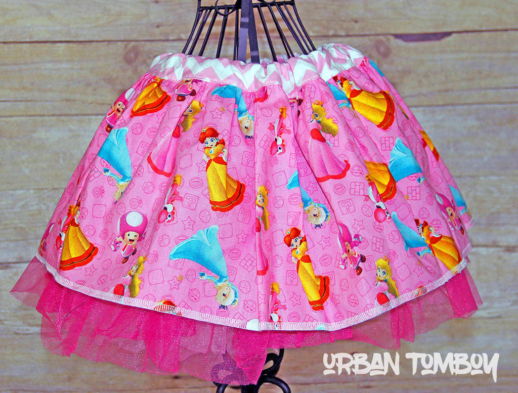 Pink Princess Peach Skirt & Tutu Set