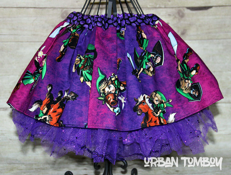 Purple Legend of Zelda Skirt & Tutu Set