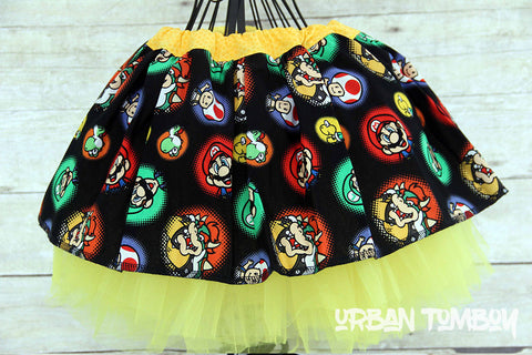 Super Mario Brothers Skirt & Tutu Set