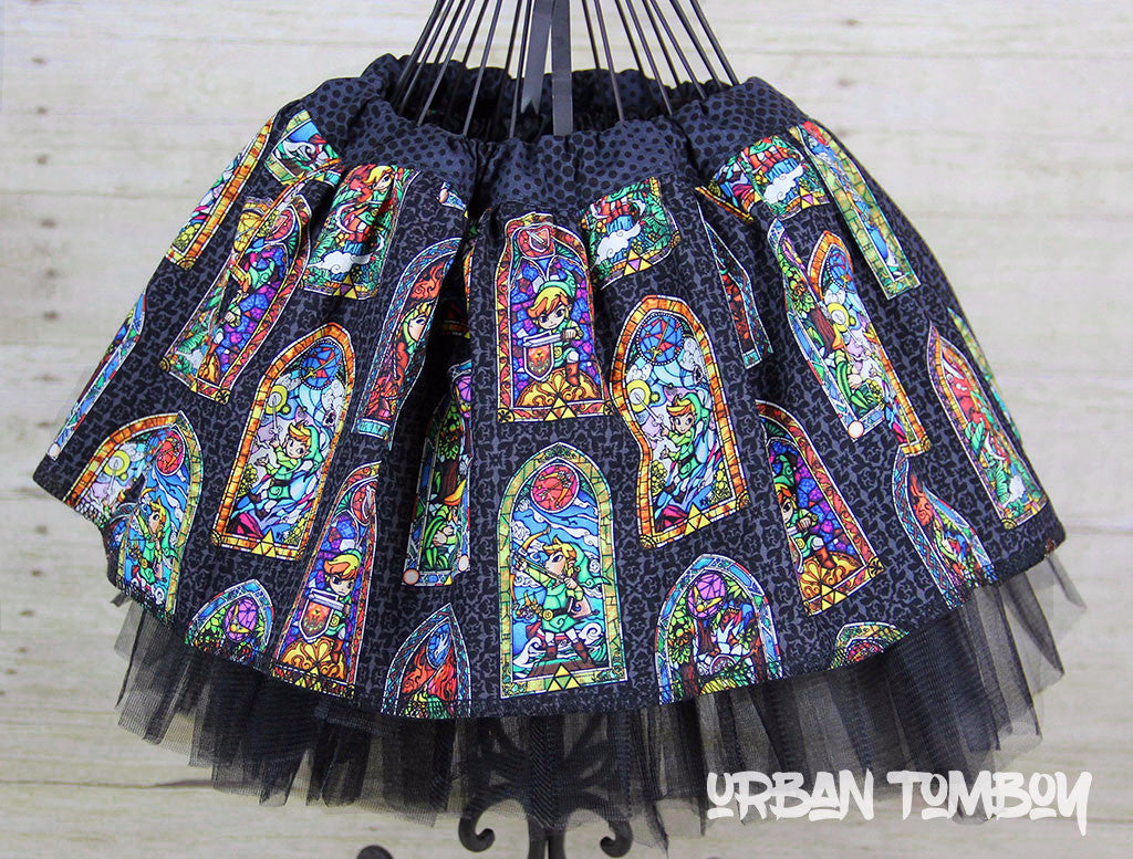Legend Of Zelda Black Stained Glass Skirt & Tutu Set