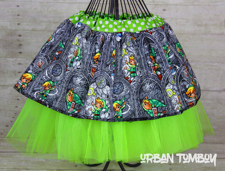 Legend Of Zelda Grey Stained Glass Skirt & Tutu Set